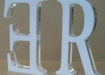 Плоские буквы из акрила
